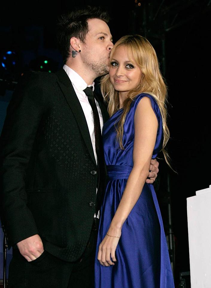 """After four years together and two children (2-year-old daughter Harlow and 15-month-old son Sparrow), rocker Joel Madden and former reality star Nicole Richie finally swapped vows on December 11 in a ceremony at her dad Lionel Richie's house, conducted by none other than Rev Run. Todd Williamson/<a href=""""http://www.wireimage.com"""" target=""""new"""">WireImage.com</a> - November 22, 2008"""