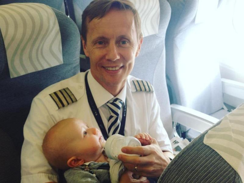 Captain Nystrom said he had children of his own: Ami Niemelä / Instagram