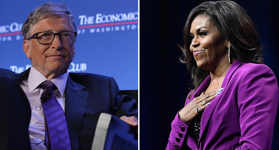 Most admired on the planet: Bill Gates and Michelle Obama (AP)