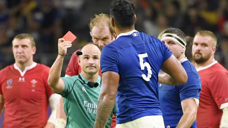 Sebastien Vahaamahina's red card may have cost France a place in the World Cup semi-finals