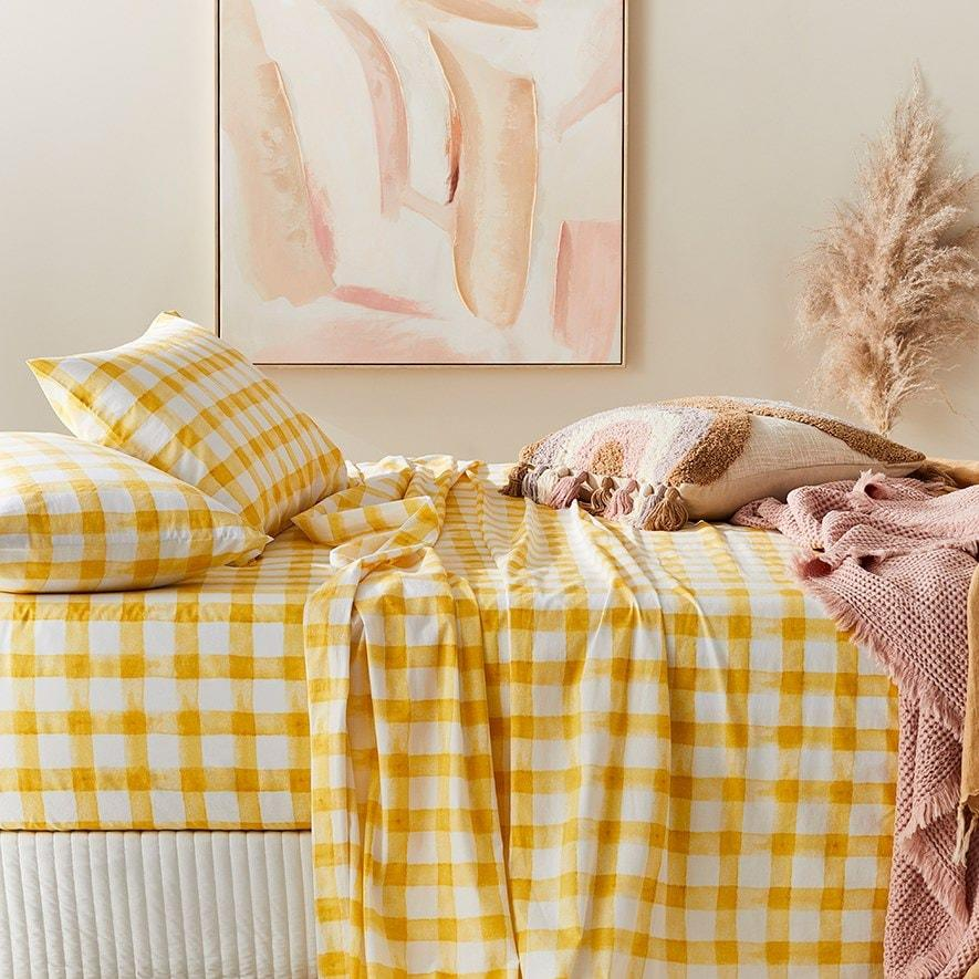 Home Republic Printed Pear Check Sheet Set, from $119.99