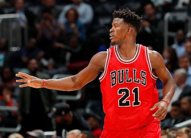 4ff232a2363 Jimmy Butler of the Chicago Bulls scored nine points in the final 2 24  including