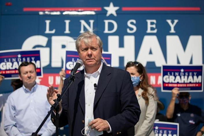 US Senator Lindsey Graham, an ally of President Donald Trump, is in the toughest re-election fight of his career, against Democrat Jaime Harrison