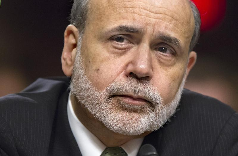 FILE- In a June 7, 2012, file photo, Federal Reserve Board Chairman Ben Bernanke testifies before the Joint Economic Committee about the nation's economy on Capitol Hill in Washington. Anticipation is high that the Federal Reserve will announce some new step Wednesday, June 20 2012, to try to rejuvenate the U.S. economy and boost investor confidence (AP Photo/J. Scott Applewhite, File)