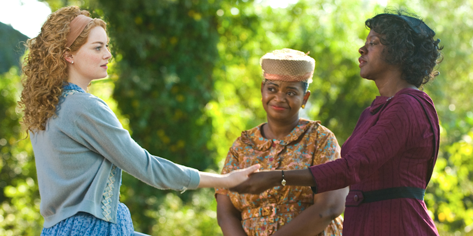 <p>Fast forward through all the parts with Emma Stone and bask in the glory of Viola Davis and Octavia Spencer acting everybody else into oblivion. Octavia Spencer won an Academy Award for Best Supporting Actress; Viola Davis was nominated for Best Actress but was robbed by Meryl Streep. </p>