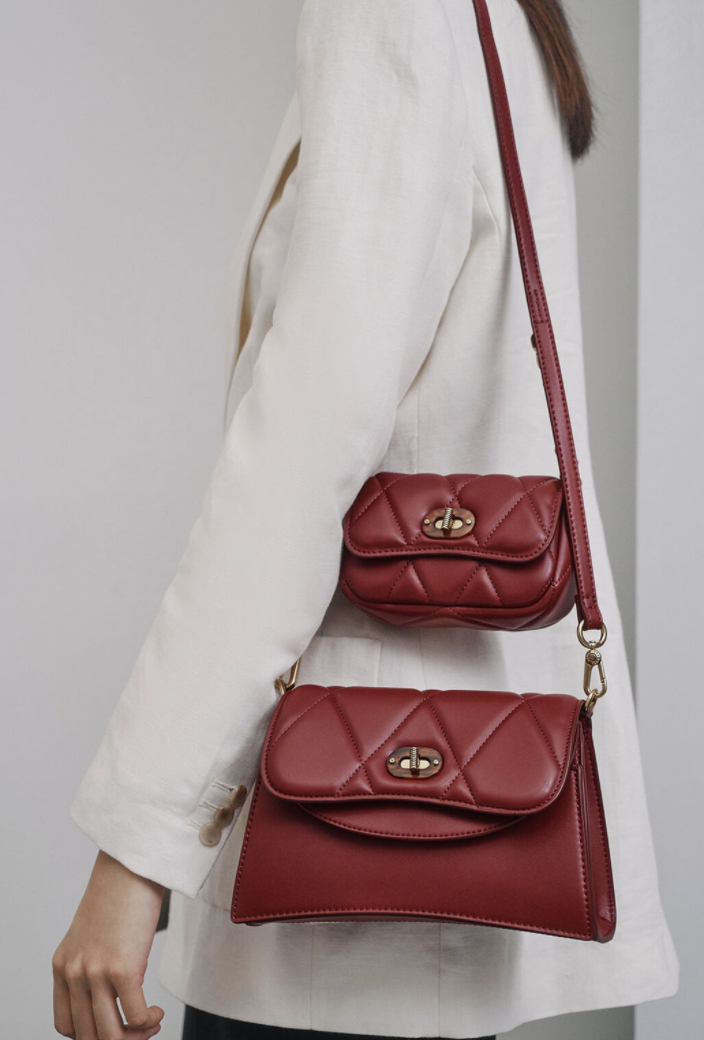PHOTO: Charles & Keith. Padded Double Pocket Shoulder Bag