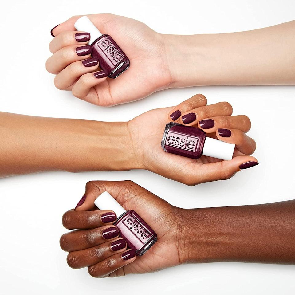 <p>Fall nails are such a vibe, from dark hues and gorgeous jewel tones. The <span> Essie Nail Polish Fall 2021 Collection </span> ($9) has a stunning range of colors including a deep purple nail color with a shimmer finish, a warm onyx green nail color with a shimmer finish, and a royal blue nail color. </p>