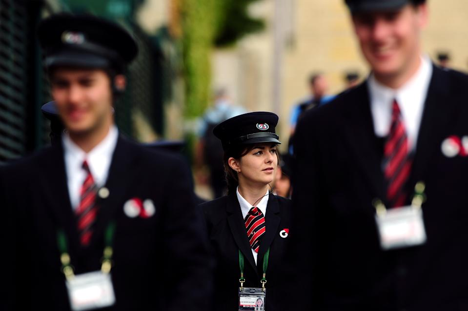 G4S security staff at the Wimbledon Championships at the All England Lawn Tennis and Croquet Club, Wimbledon. Photo: PA