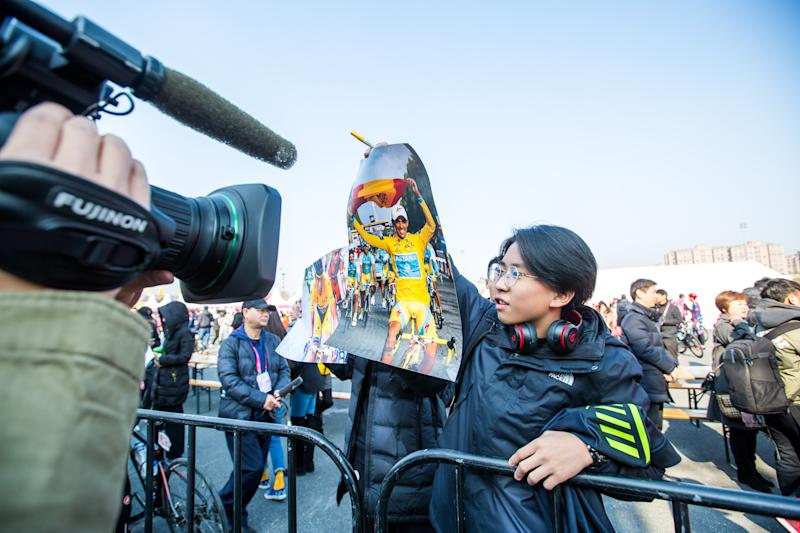 The Alberto Contador fans were out in force at the 2019 Ride Like a Pro event in Shanghai, China