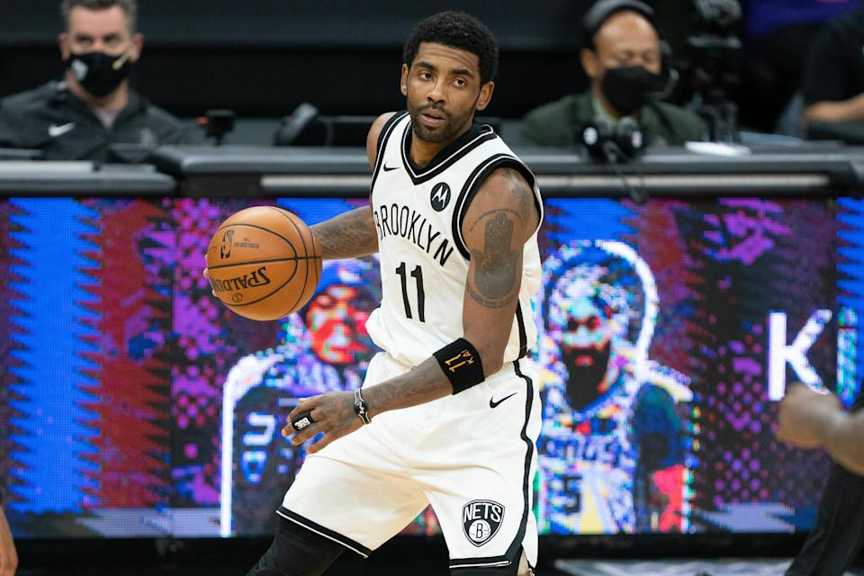 The Nets announced Tuesday that Kyrie Irving won't play or practice this season until he is vaccinated.