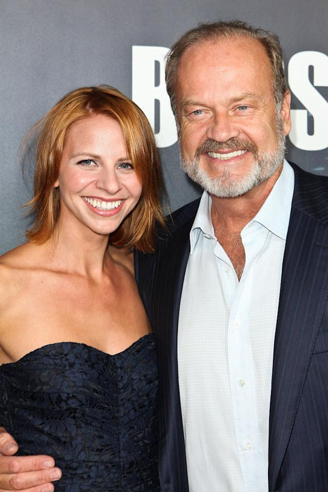 "<a href=""/kelsey-grammer/contributor/28463"">Kelsey Grammer</a> and wife Kayte Walsh arrive at the premiere of Starz's ""<a href=""/boss/show/46953"">Boss</a>"" at ArcLight Cinemas on October 6, 2011 in Hollywood, California."