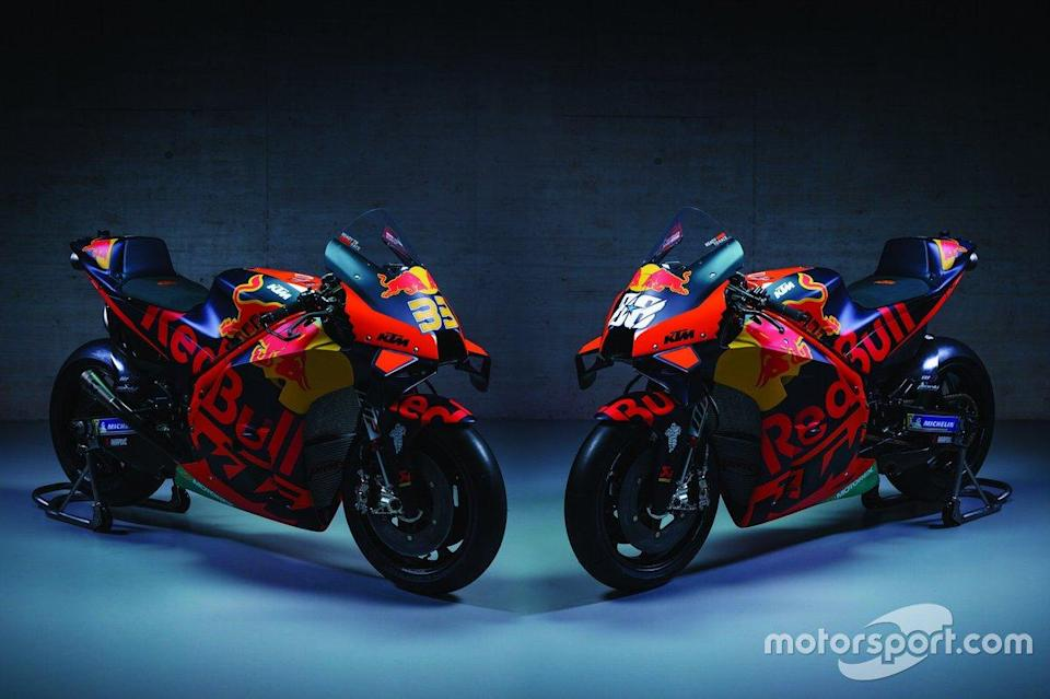 "Motos de Brad Binder, Red Bull KTM Factory Racing y Miguel Oliveira, Red Bull KTM Factory Racing<span class=""copyright"">KTM </span>"