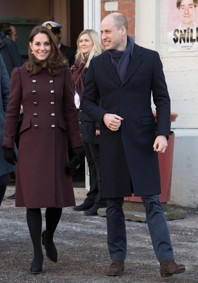 Prince William has joked about his wife Kate Middleton having twins. They are here together on a recent visit to Sweden. Source: Getty