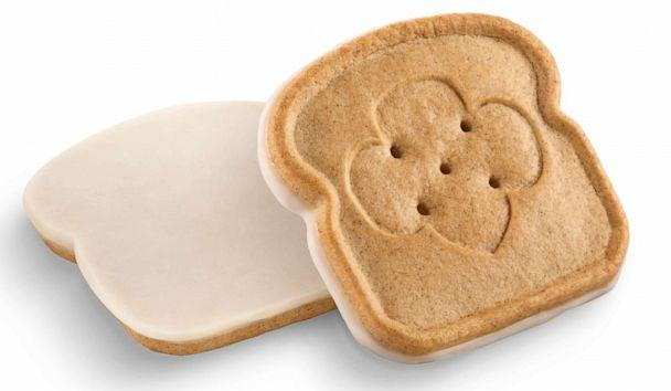PHOTO: The new Toast-Yay! Girl Scout Cookie is shaped like a slice of bread and stamped with the signature trefoil. (GSUSA )