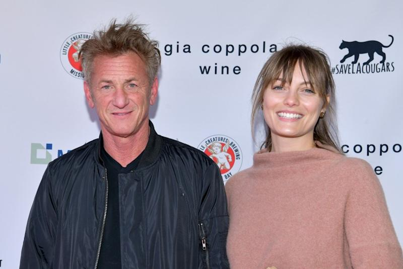 """LOS ANGELES, CALIFORNIA - MARCH 08: (L-R) Sean Penn and Leila George attend """"Meet Me In Australia"""" To Benefit Australia Wildfire Relief Efforts, hosted by The Greater Los Angeles Zoo Association, at Los Angeles Zoo on March 08, 2020 in Los Angeles, California. (Photo by Rodin Eckenroth/Getty Images)"""