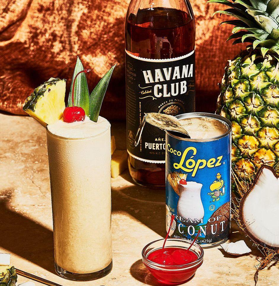 """<p><em>Keep the blender going all day. Relish the sugar buzz.</em></p><p><strong>Ingredients</strong></p><p>• 2 1/2 oz. rum<br>• 3 oz. pineapple juice<br>• 1 oz. coconut cream<br>• ice</p><p><strong>Directions</strong></p><p>Start with the rum. Then combine with unsweetened pineapple juice (you can sub in 3 ounces crushed or whole pineapple), and coconut cream in a blender. Blend on high with a cup or so of crushed ice, or 5 or 6 ice cubes. Pour into a tall glass. Garnish with whatever you've got.</p><p><a class=""""link rapid-noclick-resp"""" href=""""https://www.esquire.com/food-drink/drinks/recipes/a3786/pina-colada-drink-recipe/"""" rel=""""nofollow noopener"""" target=""""_blank"""" data-ylk=""""slk:Read More"""">Read More</a></p>"""