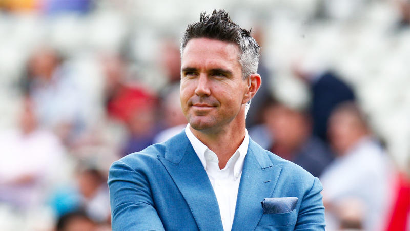Ex England player Kevin Pietersen during ICC Cricket World Cup Semi-Final between England and Australia. (Photo by Action Foto Sport/NurPhoto via Getty Images)