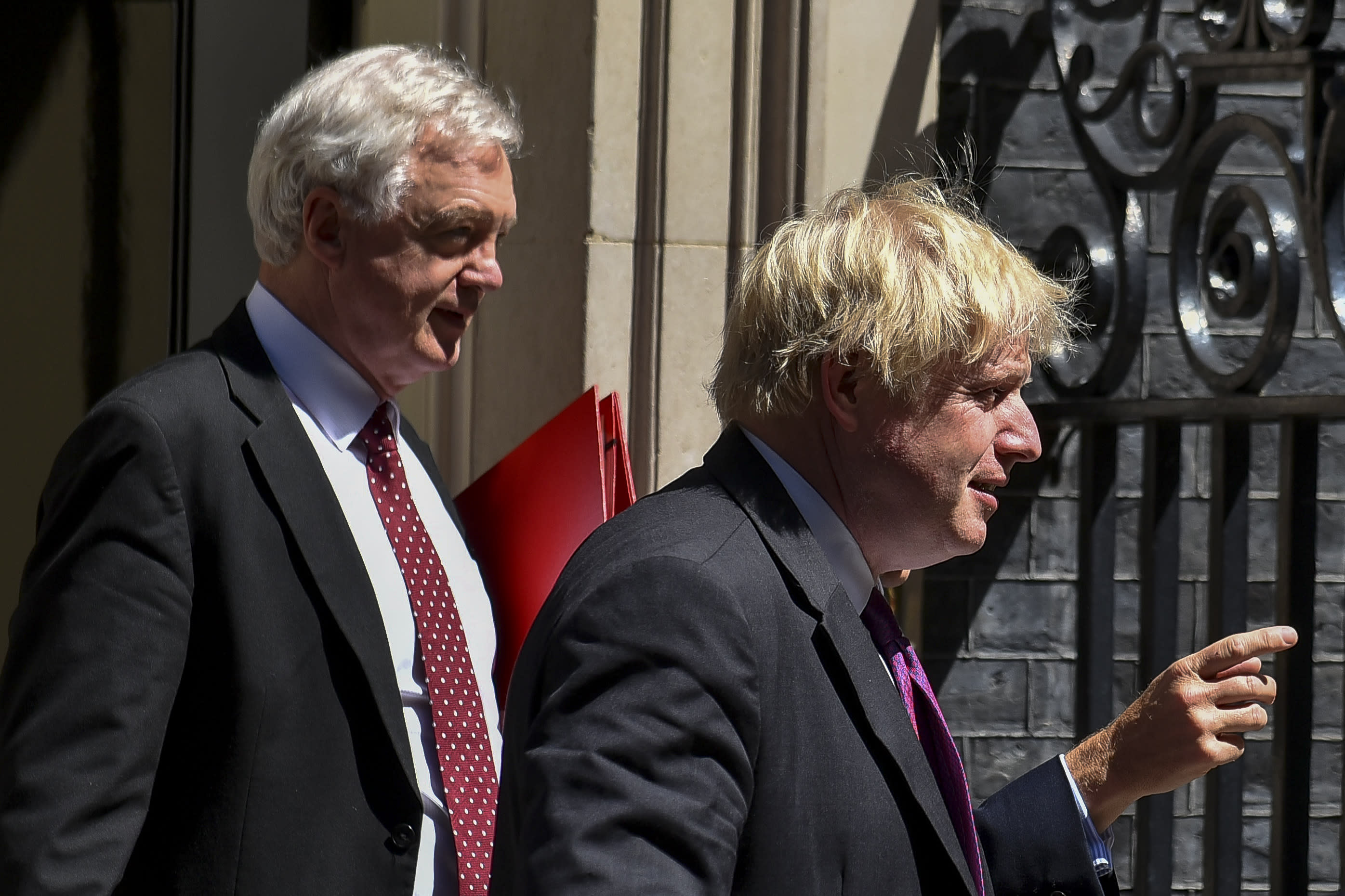 David Davis and Boris Johnson together in Downing Street More