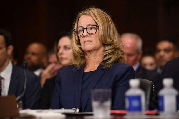PHOTO: In this Sept. 27, 2018, file photo, Christine Blasey Ford listens during a Senate Judiciary Committee hearing in Washington, D.C. (Bloomberg via Getty Images, FILE)
