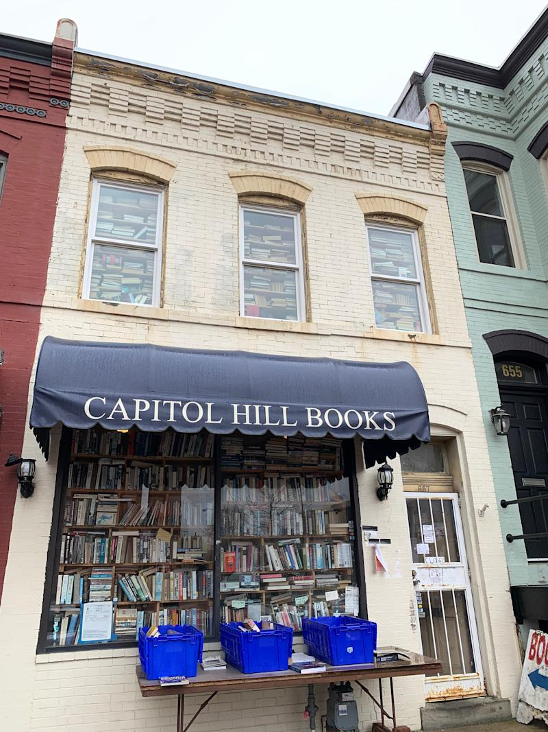 Capital Hill Books, forced to close during the coronavirus, had come up with two ways to help it maintain business during the shutdown: shopping by appointment (four shoppers or less) and virtual grab bag book collections shipped to shoppers.