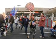 """FILE PHOTO: Supporters of U.S. President Donald Trump gather at a """"Stop the Steal"""" protest in Phoenix"""