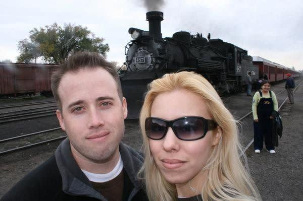 An undated photo of Travis Alexander and Jodi Arias that she posted to her MySpace page. According to the caption, the photo was taken at the Cumbres and Toltec Rail Road, in Chama, New Mexico.