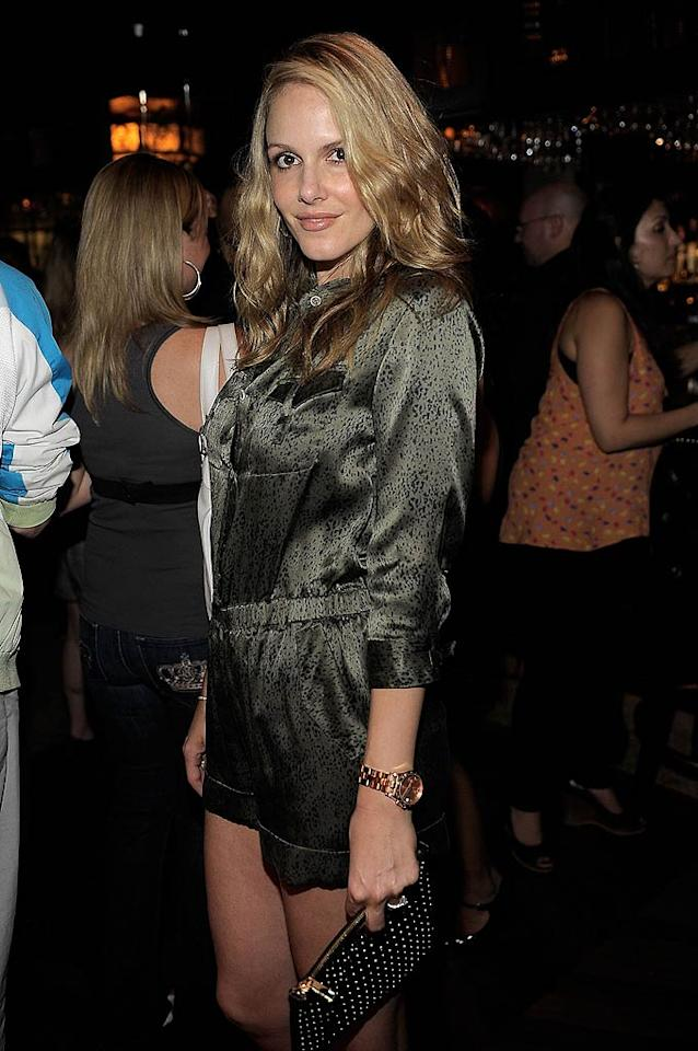 "Actress Monet Mazur, who's appeared in episodes of TV shows including ""Chuck,"" ""CSI"" and ""Castle,"" looked sexy in her silky short jumpsuit. Charley Gallay/<a href=""http://www.wireimage.com"" target=""new"">WireImage.com</a> - June 21, 2011"