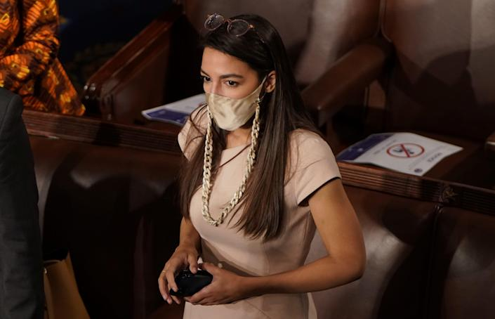 Rep. Alexandria Ocasio Cortez Oath of Office January 2021 Congress.JPG
