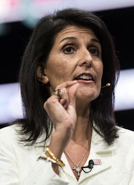 Nikki Haley - the US ambassador to the United Nations -- has called for Beijing to implement substantive punishments on North Korea (AFP Photo/NICHOLAS KAMM)