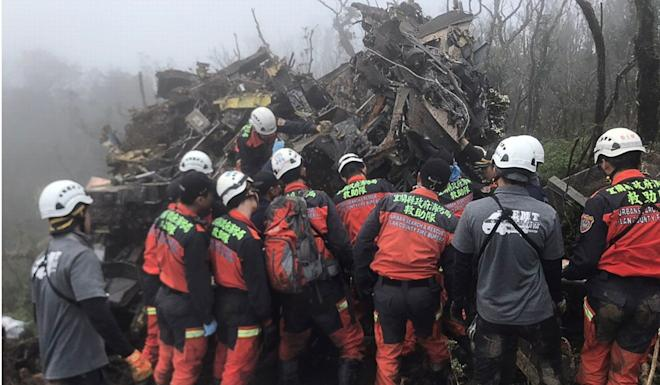 Taiwan's defence ministry said two Black Hawk helicopters and about 80 officers had been dispatched to the crash site. Photo: Reuters