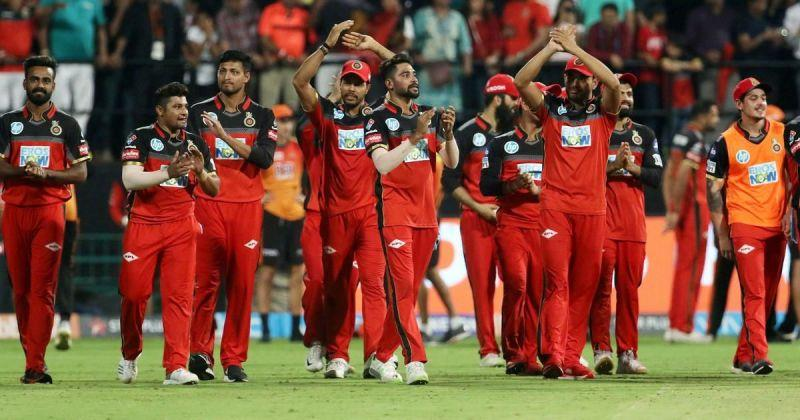 The Royal Challengers Bangalore team
