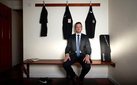 Ryan Atkin -First openly gay referee Ryan Atkin says rainbow laces are a start, but key players in football must do more to support LGBT people - Credit: Christopher Pledger/The Telegraph