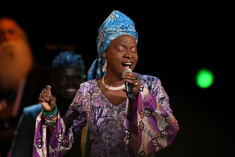 """Beninese singer-songwriter Angelique Kidjo, shown here at the 2020 Grammys, says coronavirus exposes how """"greed has fragilized our system"""""""