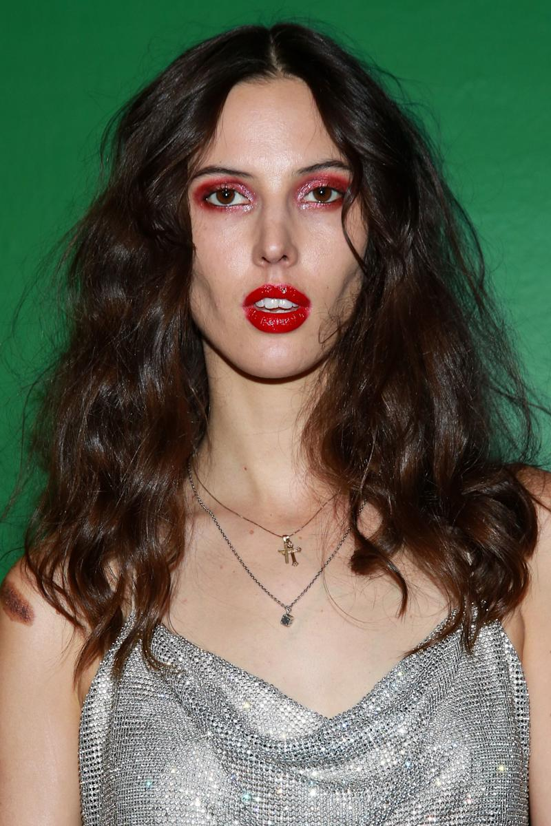Ruby Aldridge Turns Up the Heat With a Monochromatic Beauty Moment