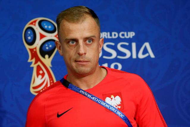 Soccer Football - World Cup - Poland Press Conference - Spartak Stadium, Moscow, Russia - June 18, 2018 Poland's Kamil Grosicki during the press conference REUTERS/Maxim Shemetov