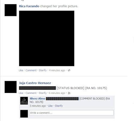 Pinoy netizens turn Facebook profiles into black as they protest cybercrime law