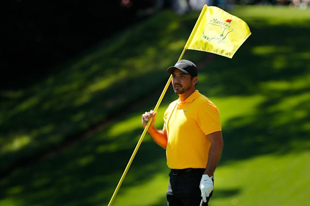 """<a class=""""link rapid-noclick-resp"""" href=""""/pga/players/7542/"""" data-ylk=""""slk:Jason Day"""">Jason Day</a>, upright ... for the moment. (Getty)"""