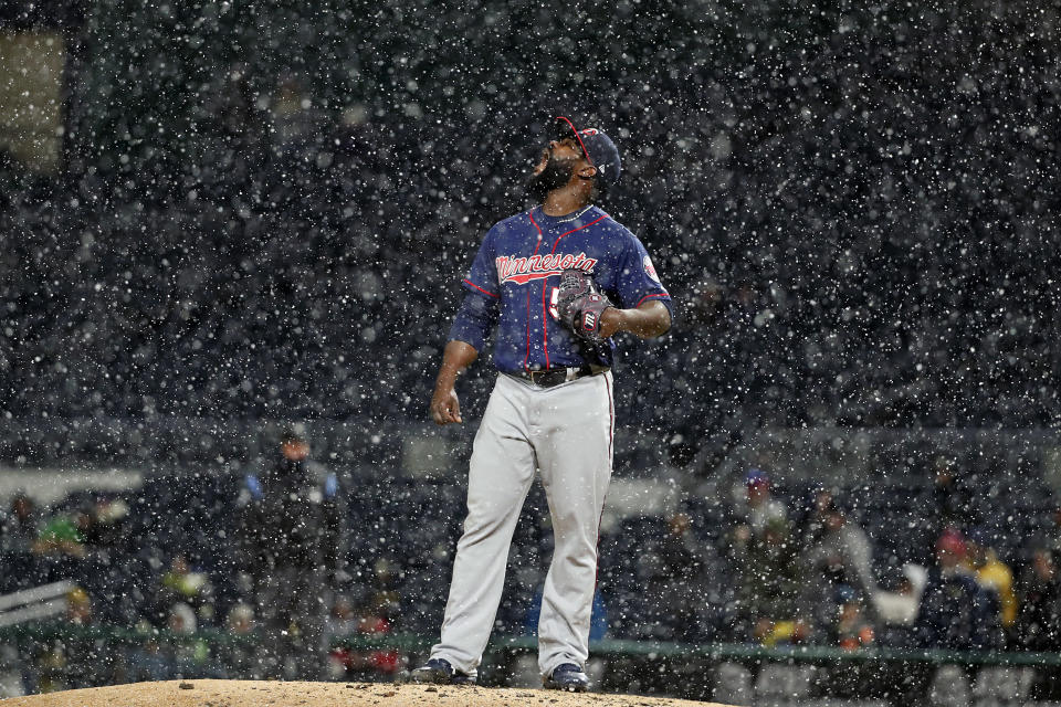 Fernando Rodney was hungry for snowflakes. (AP Photo)