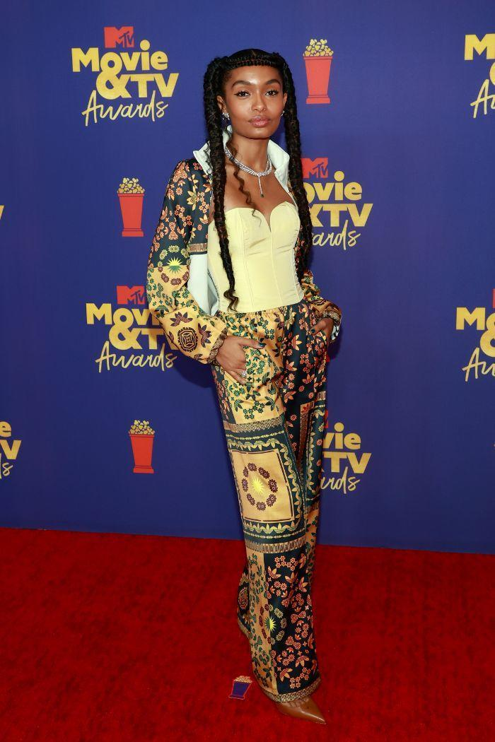 Yara Shahidi attends the 2021 MTV Movie & TV Awards at the Hollywood Palladium on May 16, 2021 in Los Angeles, wearing her Adidas collection. - Credit: Courtesy of MTV