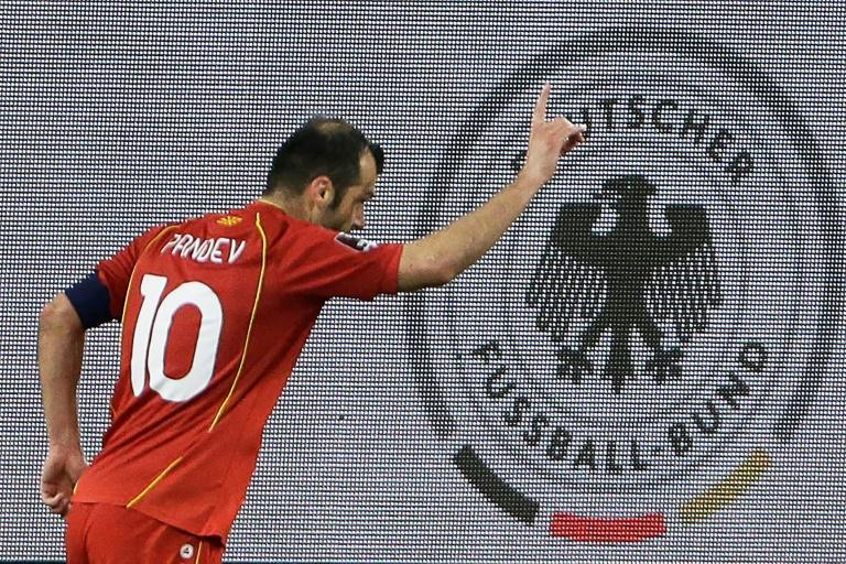 The 37-year-old Goran Pandev scored North Macedonia's opening goal in Duisburg