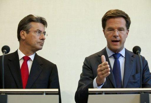 """I have to inform you today that the three parties have failed to come to common answers,"" said Mark Rutte (R)"