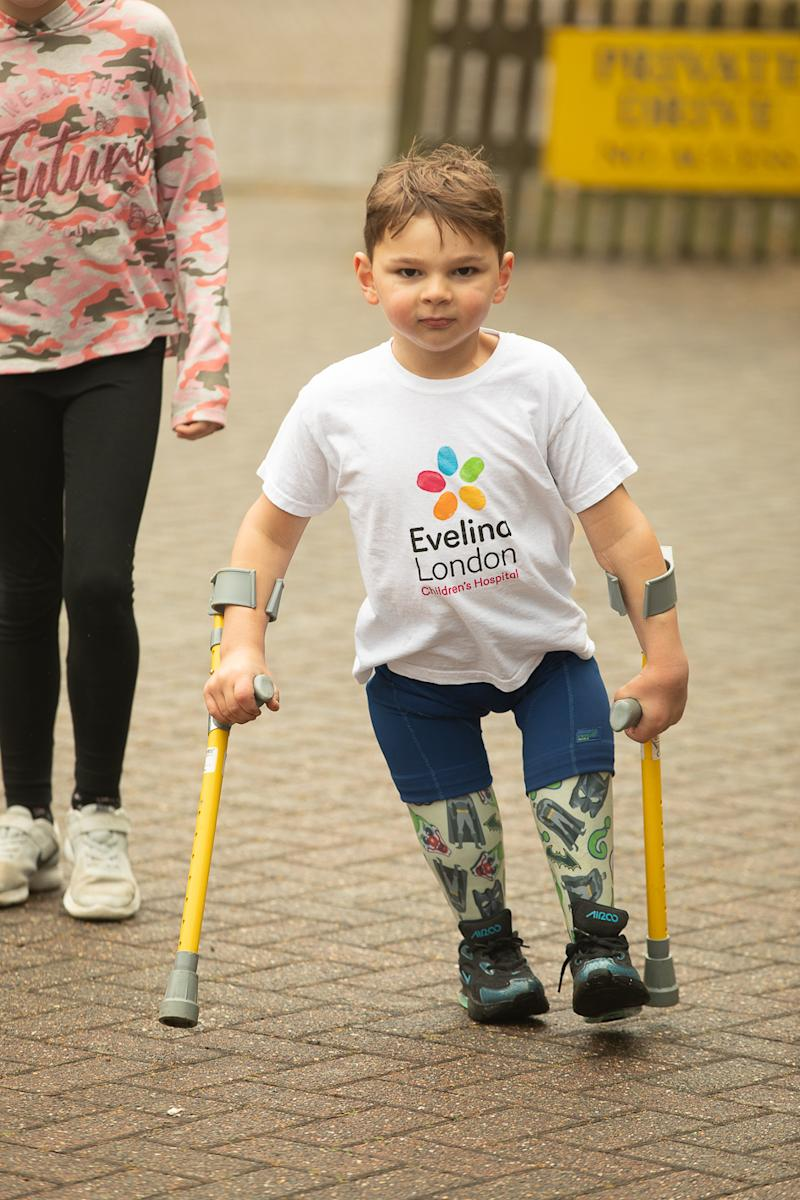 Tony Hudgell is raising money for Evelina Children's hospital by walking 10k in June. (Happy Feet Management)