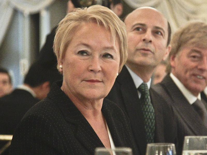 Pauline Marois, Premier of Quebec, at the Foriegn Policy Association luncheon where she delivered a keynote address on Thursday, Dec. 13, 2012, in New York.  (AP Photo/Bebeto Matthews)