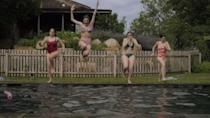 <p>Friends who make a splash together, stay together. </p>