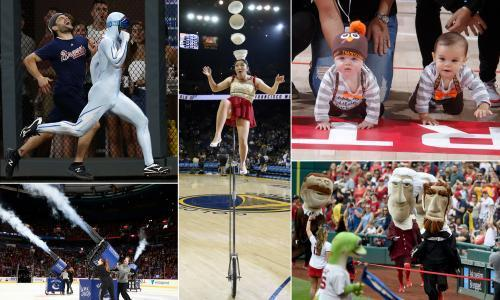 The Joy of Six: in-game entertainment. From the sometimes deadly bombardment of the t-shirt cannon to the prowess of The Freeze, here are half-a-dozen traditions to liven up breaks in play