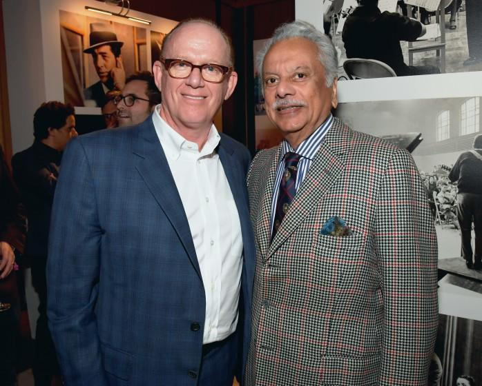 LOS ANGELES, CA - NOVEMBER 15: Capitol Music Group Chairman and CEO Steve Barnett (L) and I.M.I. Incorporated Chairman and CEO Bhaskar Menon attend Hollywood Gala celebrating Capitol Records 75th Anniversary on November 15, 2016 in Los Angeles, California. (Photo by Lester Cohen/WireImage)