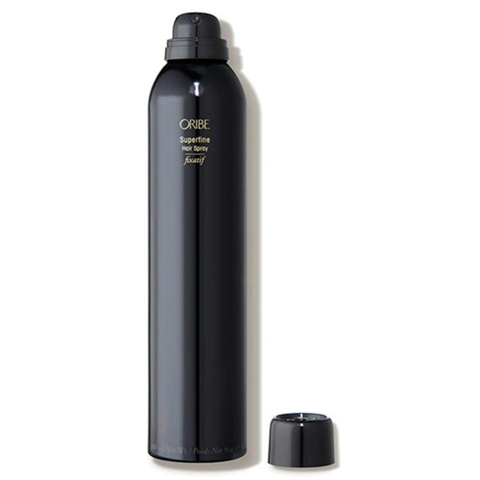 "<p>This sheer formula from Oribe wins major points for versatility, as it is easily buildable. While other hairsprays can be drying, Superfine Hair Spray is just the opposite, thanks to hydrating aloe leaf extract and conditioning hydrolyzed wheat protein. FYI, it comes in a convenient travel size, too.</p> <p><strong>$42</strong> (<a href=""https://shop-links.co/1650671548660706880"" rel=""nofollow noopener"" target=""_blank"" data-ylk=""slk:Shop Now"" class=""link rapid-noclick-resp"">Shop Now</a>)</p>"