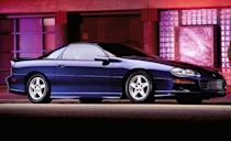<p>The fourth-generation Camaro's one significant update occurred for the 1998 model year, when it got a new face with compound headlights and the LT1 5.7-liter V-8 gave way to the all-new, all-aluminum 5.7-liter LS1 V-8 rated at 305 horsepower. GM also brought production of the SS in-house, and the free-breathing LS1 in that machine was now rated at 320 horsepower.</p>