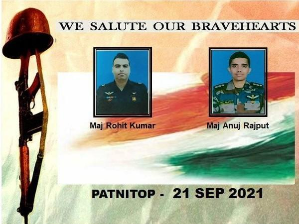 Pilots who succumbed to their injuries after an army aviation helicopter force-landed in J-K's Udhampur. (Photo/ANI)