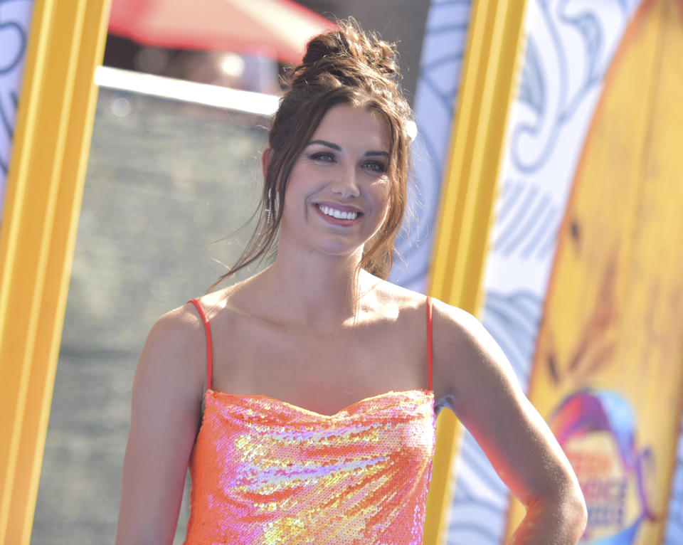 Alex Morgan arrives at the Teen Choice Awards on Sunday, Aug. 11, 2019, in Hermosa Beach, Calif. (Photo by Richard Shotwell/Invision/AP)